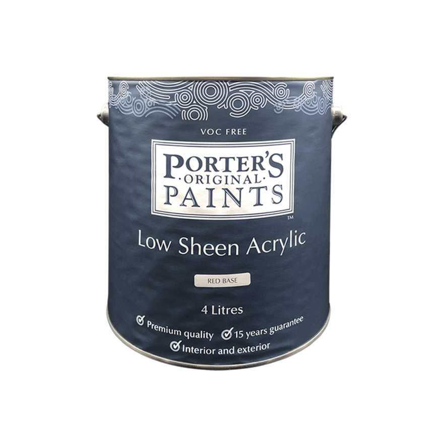 Porter's Low Sheen Acrylic Clear 4L